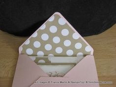 Stampin'Up! Envelope punch board easy way to make a liner