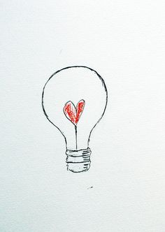 Light bulb loveheart