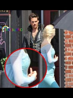 Why is this cracking me up so badly?Ahhahhaa Georgina Haig and Colin O'Donoghue shooting season 4 promo!