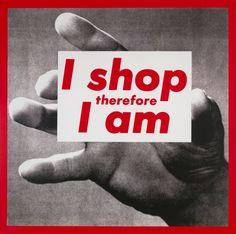 Barbara Kruger - Untitled (I shop therefore I am) (1987)