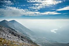 Torridon; Spidean Coire Nan Clach looking towards Loch Clair with Sgurr Ban and Sgurr nan Fhir Duibhe....from above the haze. Mark Appleton photography.