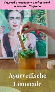 1. Ayurvedic lemonade – a refreshment in summer – Yogiveda  Ayurvedische Limonade – eine Erfrischung im Sommer – Yogiveda    Refreshing Ayurvedic Ginger Lemonade – you can find a recipe in my blog. #Ayurvedic #lemonade #refreshment #summer #Yogiveda Detox Cleanse Drink, Smoothie Detox, Detox Tea, Smoothies, Detox Soup, Juice Cleanse, Water Recipes, Detox Recipes, Smoothie Recipes