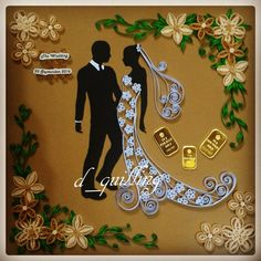 wedding theme  quilling paper for mahar with LM by d_quilling (IG)