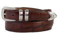 794da9d990a1 PGA TOUR Alligator Print Leather Belt - Brown - 269500-200