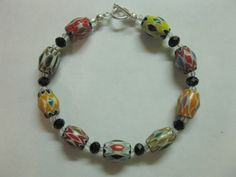 Bracelet Chevron Beads Sterling Toggle Clasp by las81101 on Etsy