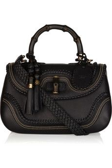 Gucci|New Bamboo stud-embellished leather tote|NET-A-PORTER.COM - StyleSays