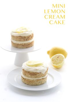 Low Carb Lemon Cream Cake for Two. Grain-Free LCHF Banting THM Recipe