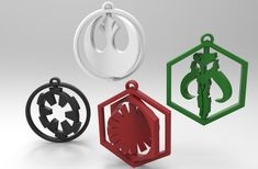 Star Wars 3D Printed Rotating Keychain / The Force Awakens /
