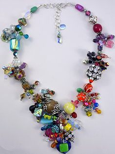Azin Statement Necklaces Funky Jewelry, Statement Necklaces, Fashion Shoes, Swarovski, Jewelry Design, Bracelets, Crafts, Style, Art