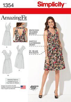 Simplicity Misses' and Plus Size Amazing Fit Dress 1354