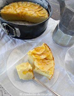 Tarta de manzana sencillísima y sin azúcar   Comparterecetas.com