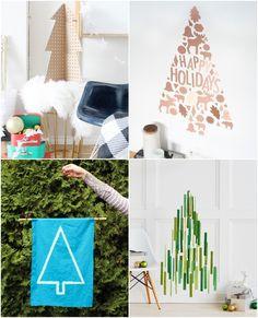 13 DIY Alternative Christmas Trees