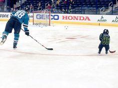 Like father, like son. NHL All Star.