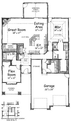 Single Story Living with Garage Options Floor Master Suite Butler Walkin Pantry CAD Available Craftsman PDF Architectural Designs Garage House Plans, House Plans One Story, Craftsman Style House Plans, Best House Plans, Dream House Plans, Small House Plans, House Floor Plans, Story House, Car Garage