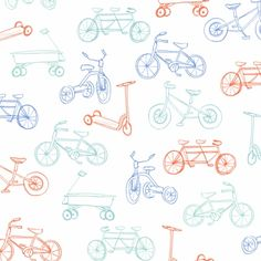 On The Go Removable Wallpaper in Orange & Blue
