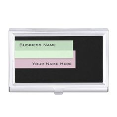 """""""Colorful Page Markers"""" business card holder: Though this card case matches """"Colorful Page Markers"""" business cards, the design's modern look with a classic feel will protect the cards you already use or any cards in your future."""