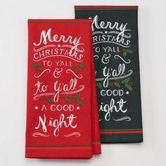 "St. Nicholas Square® 2-pc. ""Merry Christmas Y'all"" Kitchen Towel Set"