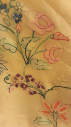 Motif details of my shadow embroidered geogette saree.