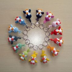 Crochet animal keyrings                                                                                                                                                     More