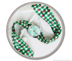 Oktoberfest country watch  green white checked by CharmeParisien