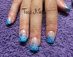 Blue Glitter by TeezNails - Nail Art Gallery nailartgallery.nailsmag.com by Nails Magazine www.nailsmag.com #nailart