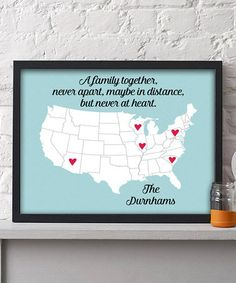 Look what I found on #zulily! Personalized Family Map Print #zulilyfinds