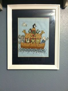 Noah's Ark cross stitch