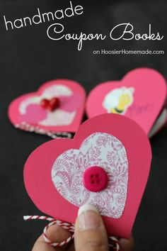 These Handmade Coupon Books are a perfect way to show your kids, family, friends, even your sweetie how much you care. Creative Gift Wrapping, Creative Gifts, Valentines Day Party, Valentine Day Crafts, Crafts To Make, Crafts For Kids, Creative Circle, Valentine Activities, White Elephant Gifts