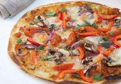 Wraps façon Pizza Weight Watchers, une délicieuse pizza sans pâte à pizza, très facile à faire,c'est une autre façon de déguster une pizza légère.