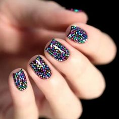 14 Various Glitter Nails Designs For Woman 2016