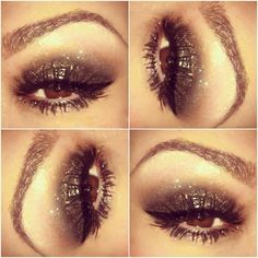 smokey glitter eye makeup