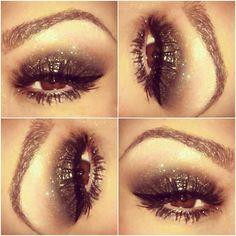 smokey glitter eye makeup