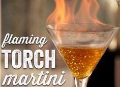 Let's Make: Flaming Torch Martinis