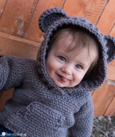 Have I mentioned that I am in LOVE with the Hibernation Hoodie?! The CHILD sizes are free crochet patterns! Make one for yourself and your little one.