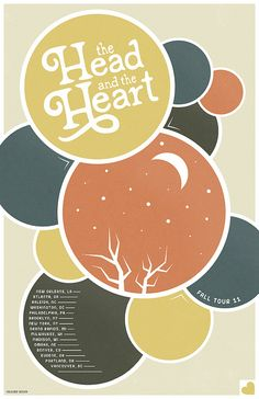 The Head and the Heart Poster by Folklore Design, via Flickr