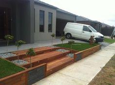 Modern Wooden Walkways Designs In Front Door
