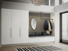 16 Elegant Scandinavian Hallway Designs That Can Improve Your Home entrance hall ideas Interior, Interior Inspiration, Home Decor, Living Room Interior, House Interior, Hallway Designs, Interior Design, Home And Living, Mudroom Entryway