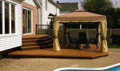 Pergola For Small Backyard Patio Roof, Backyard Patio, Gravel Patio, Patio Privacy, Patio Plus, Mobile Home Porch, Patio Signs, Patio Layout, Pergola Plans