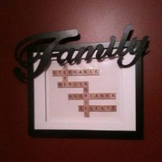 I love this!  It is exactly what I want to make for the family room.  Need to find some more old scrabble games. *T