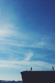 adventure, cliff, clouds