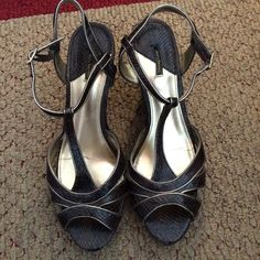 """Wedges Brown Daisy Fuentes Wedges. These are really comfortable! 3.5"""" wedge. There are some signs of wear especially around the buckles as reflected in the price. Daisy Fuentes Shoes Wedges"""