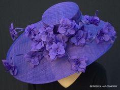 Purple Majesty Hat for the Kentucky Derby Millinery Hats, Fascinator Hats, Fascinators, Lilac Fascinator, Sinamay Hats, Headpieces, Kentucky Derby Hats, Fancy Hats, Church Hats