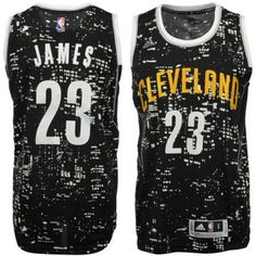 #23 Adidas Swingman LeBron James Men's Black NBA Jersey - Cleveland Cavaliers Rising Stars