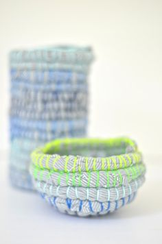 DIY: fabric wrapped containers #diy #crafts