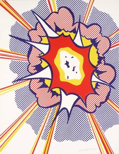 Roy Lichtenstein (1923‑1997) Title Explosion Date 1965-6 MediumLithograph on paper Dimensionsimage: 562 x 435 mm Collection Tate