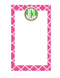 Personalized/ Custom Notepad  Monogram by LoveyDoveyCreations