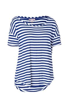 c94608ae27 Striped Malibu T-Shirt in Cobalt White by JUICY COUTURE