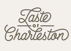 """Really nice style for that """"Taste of Charleston"""" from J Fletcher Design. Get a larger view here:http://dribbble.com/shots/1162600-Taste-o-Charleston/attachments/151224"""