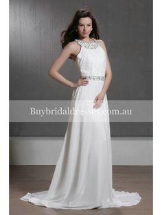 halter wedding dress