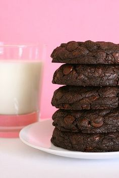 Giant double chocolate cookies